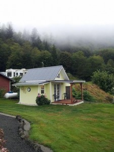 "The little cottage in Seiku, WA where I wrote ""Crash Landing In a Field of Outhouses"""